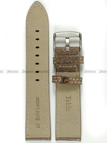 Pasek skórzany do zegarka - Tekla PT30.22.3.7 - 22 mm