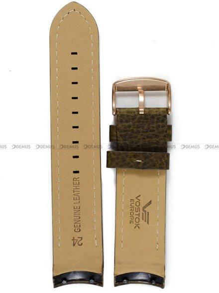 Pasek skórzany do zegarka Vostok Anchar 6S21-510O585 - 24 mm