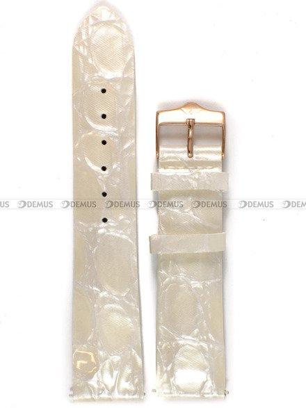 Pasek skórzany do zegarka Vostok Rocket N-1 Lady - 20 mm biały perłowy