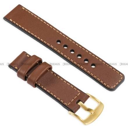Pasek skórzany do zegarka lub smartwatcha - moVear WQU0C01GD00GDPM22B2 - 22 mm