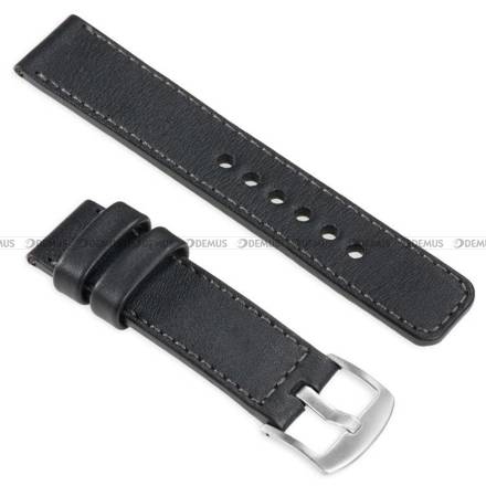 Pasek skórzany do zegarka lub smartwatcha - moVear WQU0C01GP00SLBM22BK - 22 mm