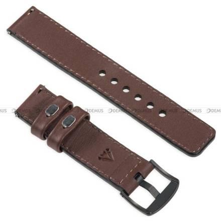 Pasek skórzany do zegarka lub smartwatcha - moVear WQU0C01SL00BKMM18B1 - 18 mm