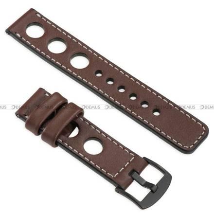 Pasek skórzany do zegarka lub smartwatcha - moVear WQU0R01SL00BKMM20B1 - 20 mm
