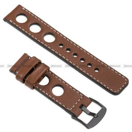 Pasek skórzany do zegarka lub smartwatcha - moVear WQU0R01SL00BKMM22B2 - 22 mm