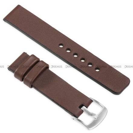 Pasek skórzany do zegarka lub smartwatcha - moVear WQU0S010000SLBM18B1 - 18 mm