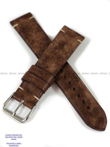 Pasek skórzany ręcznie robiony A. Kucharski Leather - Conceria Il Ponte Maya Simple - chocolate/camel 30 mm