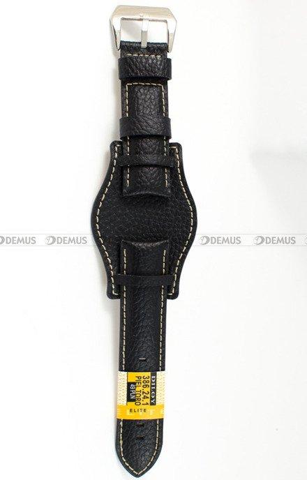 Pasek skórzany z podkładką do zegarka - 386.24.1 - 24 mm