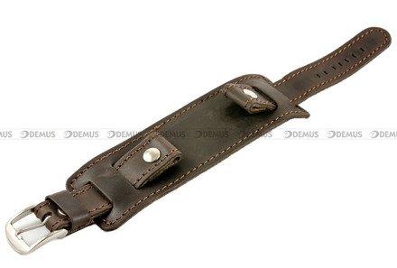 Pasek skórzany z podkładką do zegarka - Horido 0112.02.22S - 22 mm