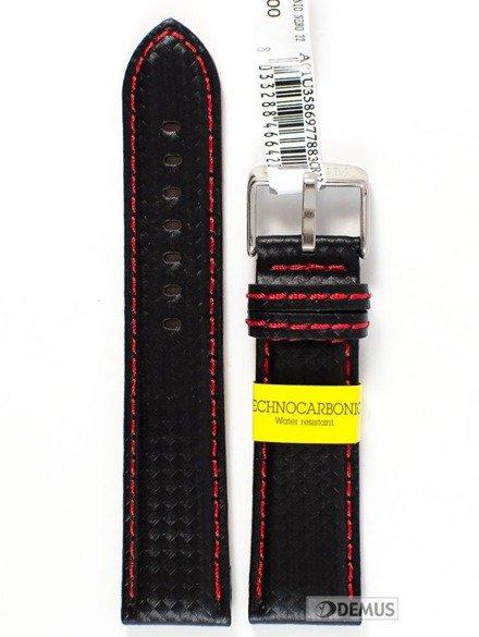 Pasek wodoodporny karbonowy do zegarka - Morellato A01U3586977883 22mm
