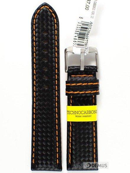 Pasek wodoodporny karbonowy do zegarka - Morellato A01U3586977886 22 mm