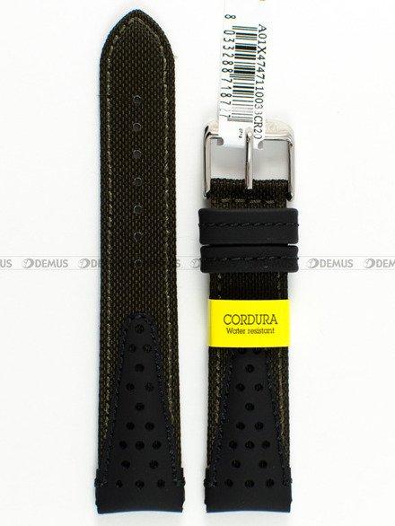 Pasek wodoodporny skórzano-nylonowy do zegarka - Morellato A01X4747110033 - 20 mm