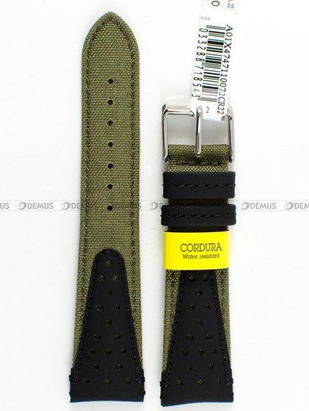 Pasek wodoodporny skórzano-nylonowy do zegarka - Morellato A01X4747110072 - 22 mm
