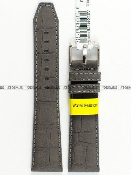 Pasek wodoodporny skórzany do zegarka - Morellato A01X4497B44092 - 20 mm