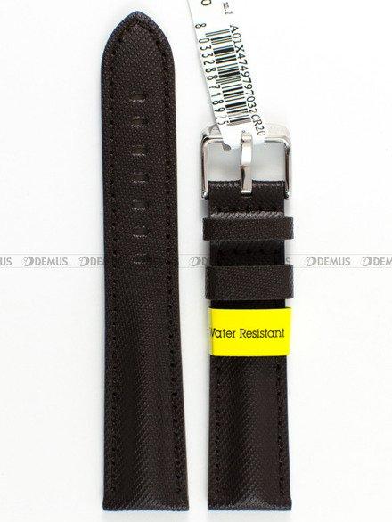 Pasek wodoodporny skórzany do zegarka - Morellato A01X4749797032 - 20 mm