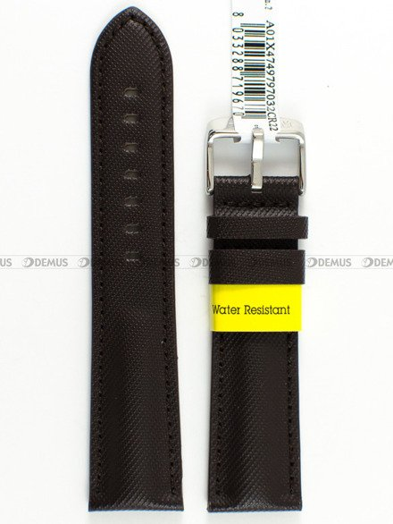 Pasek wodoodporny skórzany do zegarka - Morellato A01X4749797032 - 22 mm