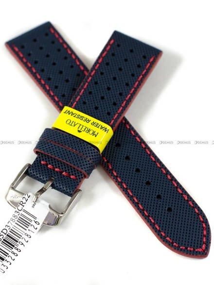 Pasek wodoodporny skórzany do zegarka - Morellato A01X5485D37883R22 - 22 mm