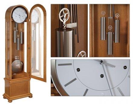 Zegar mechaniczny stojący Hermle Lambert-Silver-D