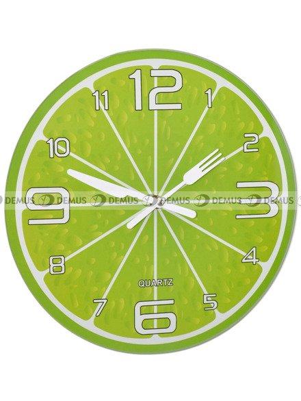 Zegar ścienny Demus S144067 Cytryna Zielona