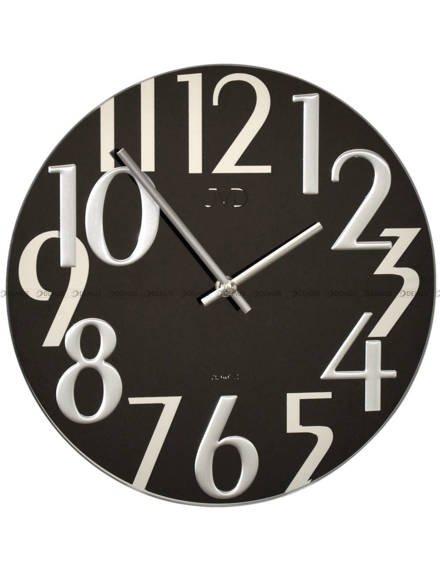 Zegar ścienny JVD HT101.2 szklany czarny