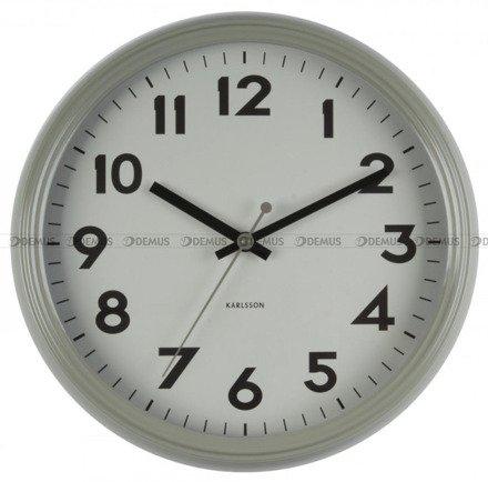 Zegar ścienny Karlsson Badge Metal Grey KA5610GY