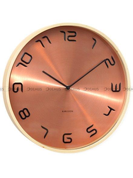 Zegar ścienny Karlsson Bent Wood Copper KA5611CO