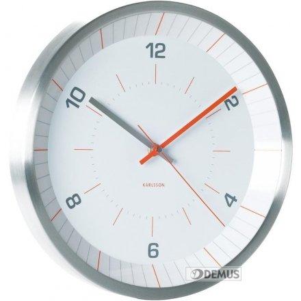 Zegar ścienny Karlsson Bright Line Orange KA5433
