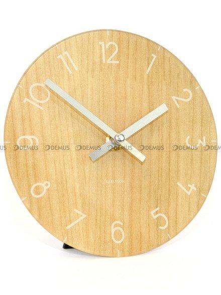 Zegar ścienny Karlsson Glass Clock Light Wood KA5617WD