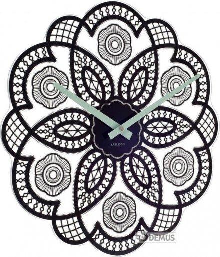 Zegar ścienny Karlsson Lace Cut Out Black KA5442BK