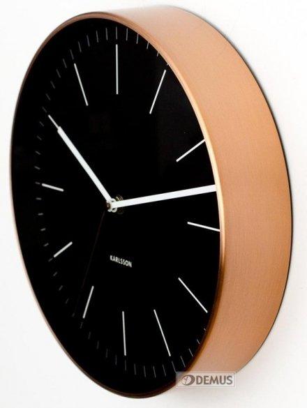 Zegar ścienny Karlsson Minimal Black KA5507BK