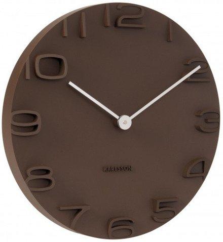 Zegar ścienny Karlsson On The Edge Brown KA5311BR