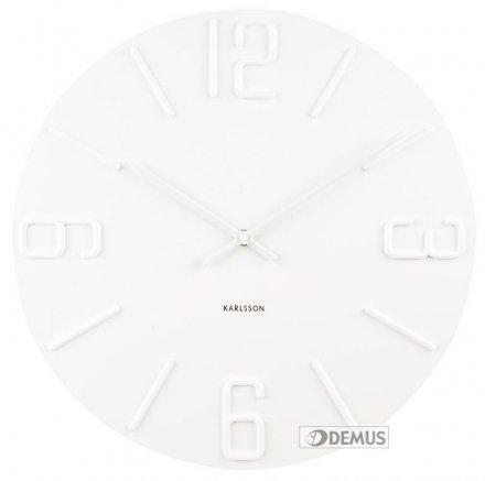 Zegar ścienny Karlsson Relief White KA5462WH