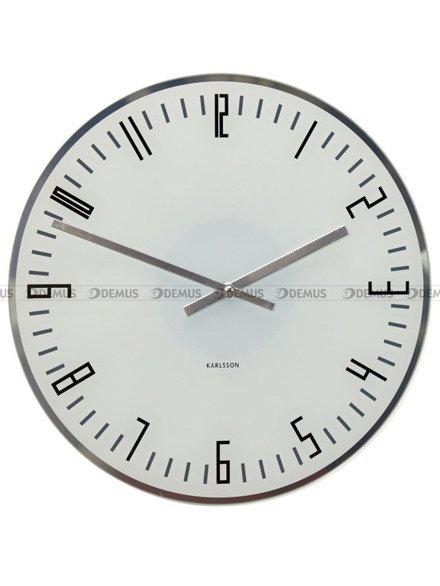 Zegar ścienny Karlsson Slim Index White KA4923