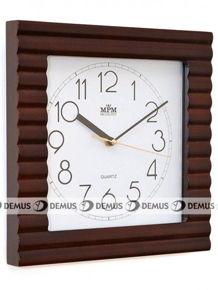 Zegar ścienny drewniany MPM E07.2700.54
