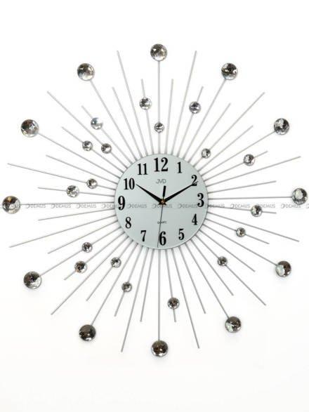 Zegar ścienny metalowy z elementami dekoracyjnymi w postaci kryształowych kuleczek HJ20