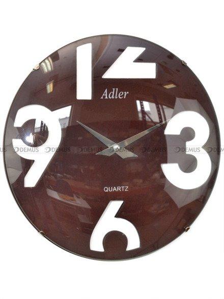 Zegar ścienny szklany Adler 21155-BR