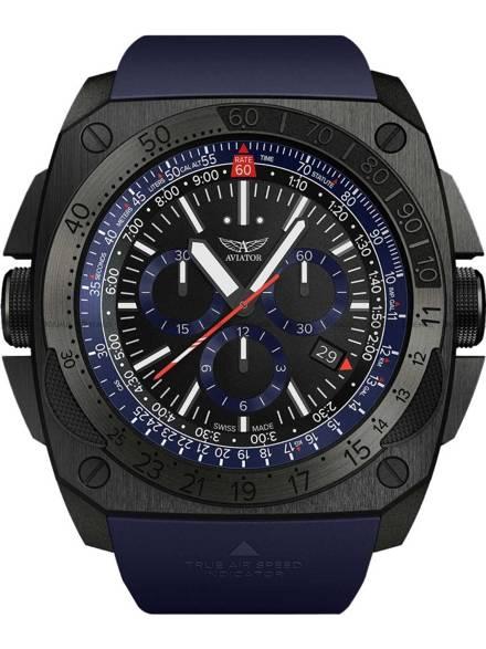 Zegarek Męski Aviator MIG-29 SMT Chrono M.2.30.5.213.6 - Limitowana edycja - W zestawie kurtka typu Flyers ze spersonalizowaną naszywką