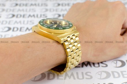 Zegarek Męski Balticus Deep Water Zielony, złote PVD - W zestawie dodatkowy pasek