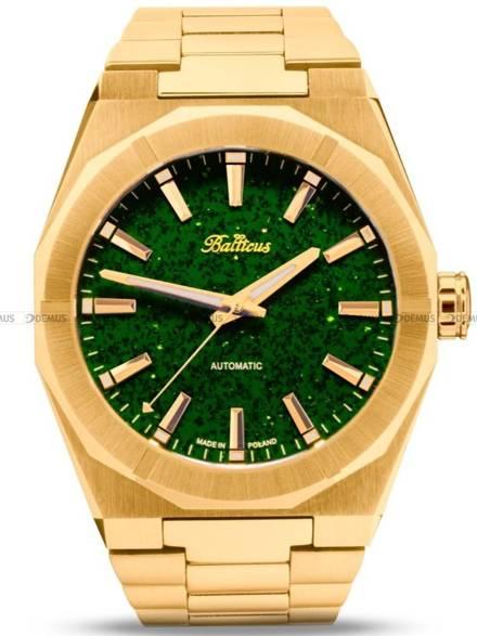 Zegarek Męski Balticus Złoty Pył, 40mm, tarcza zielona, bez datownika