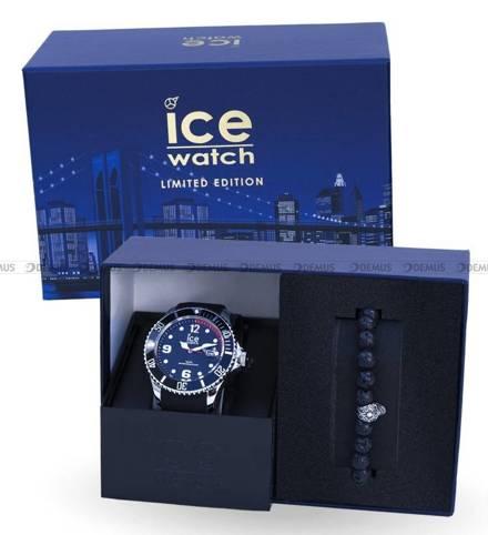 Zegarek Męski Ice-Watch - ICE Steel Black 018691 L - Z bransoletką w zestawie - Limitowana edycja
