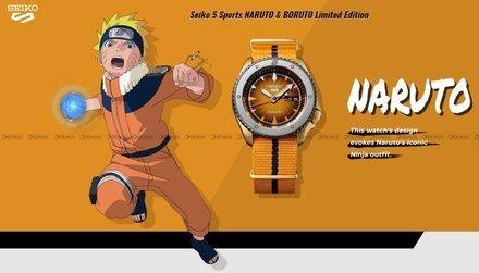 Zegarek Męski Seiko 5 Sports NARUTO & BORUTO - NARUTO UZUMAKI SRPF70K1 - Limitowana edycja