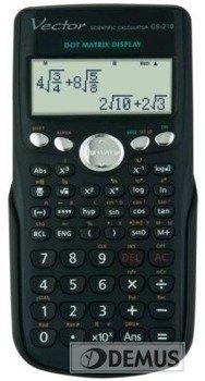 Kalkulator naukowy Vector CS-210 z naturalnym zapisem