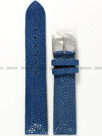 Pasek Undine ze skóry płaszczki do zegarka Vostok - 20 mm niebieski S
