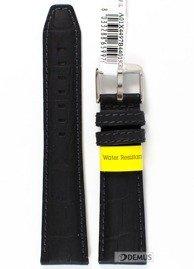 Pasek do zegarka wodoodporny skórzany - Morellato A01X4497B44019 22mm
