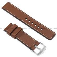 Pasek skórzany do zegarka lub smartwatcha - moVear WQU0C01SL00SLBM20B2 - 20 mm