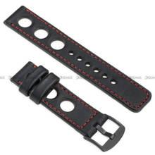 Pasek skórzany do zegarka lub smartwatcha - moVear WQU0R01RE00BKMM22BK - 22 mm