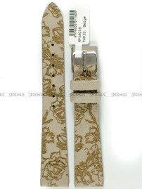 Pasek skórzany z zamszem do zegarka - Minet MPSAC18 - 18 mm