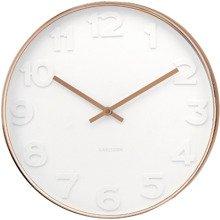 Zegar ścienny Karlsson Mr. White Copper KA5587