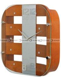 Zegar ścienny szklano-drewniany N29112.41