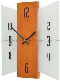 Zegar ścienny szklano-drewniany nowoczeny N12004.41
