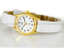 Zegarek Damski Casio LTP-1154Q-7B-Biały - W zestawie dodatkowy czarny pasek